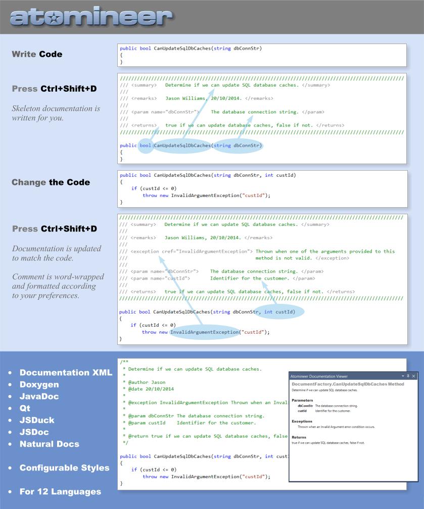 Atomineer Pro Documentation - Visual Studio Marketplace